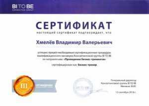 sertifikat biznes trenera mini